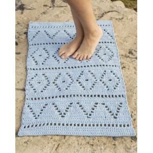 Boardwalk by DROPS Design - Crochet Rug Pattern 61x100 - 73x123 cm