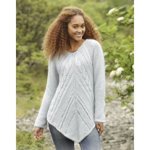 Winter Flair by DROPS Design - Knitted Tunic with Cables Pattern size S - XXXL