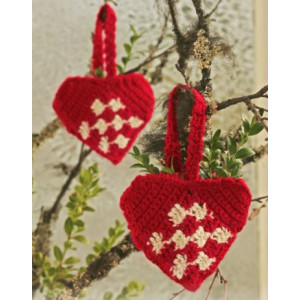 Heart Basket by DROPS Design - Christmas Basket Crochet Kit 10 cm - 2 pcs