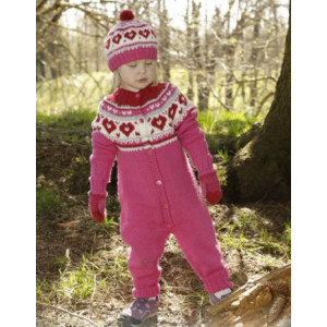 Warmhearted by DROPS Design - Knitted Overall Pattern size 12 months - 6 years