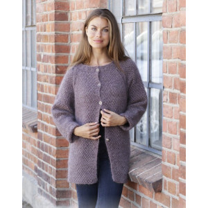 Simple Mind Jacket by DROPS Design - Knitted Jacket Pattern Sizes S - XXXL