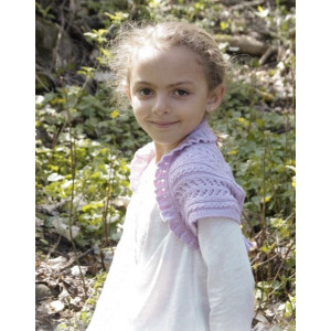 Leelanee by DROPS Design - Knitted Bolero with Lace Pattern size 3 - 12 years