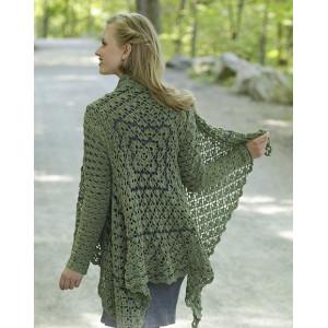 Green Envy by DROPS Design - Crocheted Jacket Pattern Sizes S - XXXL