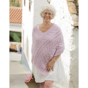 Sweet Nancy by DROPS Design - Poncho Knitting Pattern size S - XXXL
