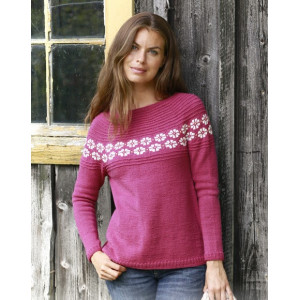 Daisy Delightby DROPS Design - Knitted Jumper Pattern Sizes S - XXXL