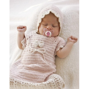 Beth by DROPS Design - Crochet Baby Dress Pattern Size 0 months - 4 years