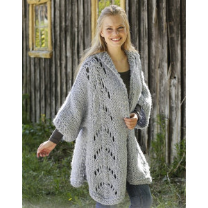 Comfort Zone by DROPS Design - Knitted Jacket Pattern Sizes S - XXXL