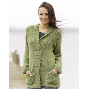 Autumn Forest Jacket by DROPS Design - Knitted Jacket Pattern Size S - XXXL