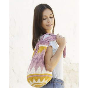 Andes Sunrise by DROPS Design - Crocheted bag Pattern 67x34 cm