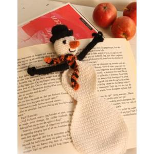 Snowman Bookmark by DROPS Design - Crochet Snowman Bookmark Pattern