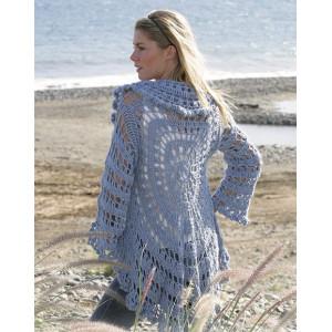 Moonlight Mist by DROPS Design - Circle Jacket Crochet Pattern Size S - XL