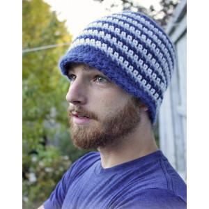Daniel by DROPS Design - Crochet Hat for Men Pattern size 3 years - XL