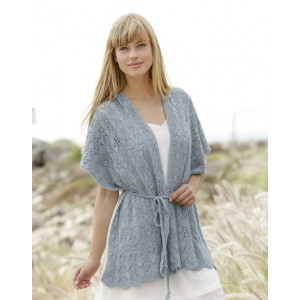 Moonlight Passage by DROPS Design - Knitted Scarf with Lace Pattern size S - XXXL