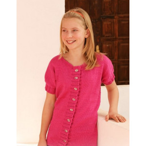Young Linda by DROPS Design - Knitted Jacket Pattern size 7 - 14 years