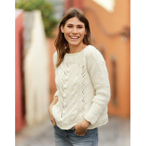 Mountain Holiday by DROPS Design - Knitted Jumper Pattern Sizes S - XXXL