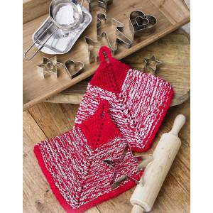 Let's Bake by DROPS Design - Knitted Potholder Pattern 18x18 cm