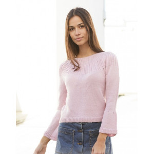 Life With Flair Jumper by DROPS Design - Knitted Jumper Pattern Sizes S - XXXL