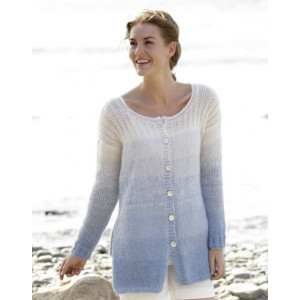 Sailing Cardigan by DROPS Design - Knitted Jacket with Rib and Vent Pattern Size S - XXXL