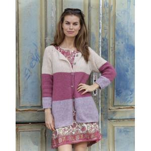 Lavender Rose by DROPS Design - Jacket Knitting pattern size S - XXXL