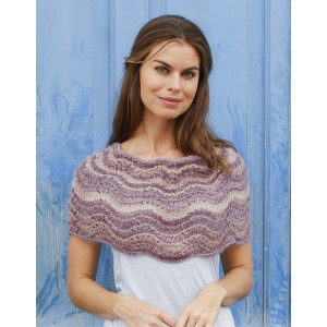 Summer Sand by DROPS Design - Poncho Knitting Pattern One-size