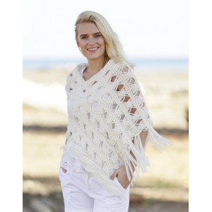 Late in August by DROPS Design - Knitted Poncho Pattern size S - XXXL