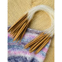Infinity Hearts Bamboo Circular Knitting Needles Set 40cm 2-10mm - 15 sizes