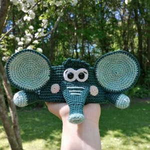 Elephant basket by Rito Krea - Basket crochet pattern 16cm