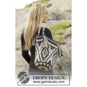 Santa Fe by DROPS Design - Crochet Bag with Colour Pattern 67x34 cm