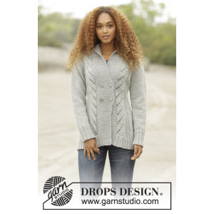 Arrowhead by DROPS Design - Knitted Jacket with Cables Pattern size S - XXXL