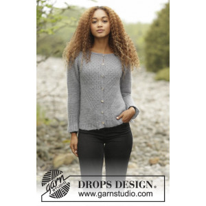 Misty Harbor Cardigan by DROPS Design - Knitted Jacket with Textured Pattern size S - XXXL