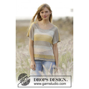 Einkorn by DROPS Design - Knitted Top Lace Pattern size S - XXXL