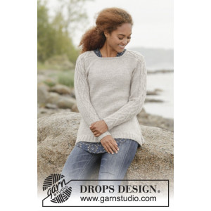 Irish Plaits by DROPS Design - Knitted Jumper with Cables Pattern size S - XXXL