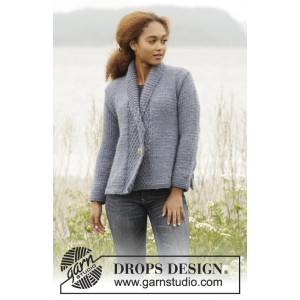 Winter Hues by DROPS Design - Knitted Jacket with double moss Pattern size S - XXXL