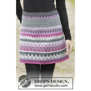 Color of Winter by DROPS Design - Crochet Skirt Multi-Coloured Pattern size S - XXXL