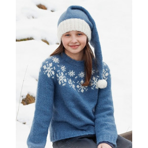 Merry Stars by DROPS Design - Knitted Jumper Pattern Sizes 2-14 years