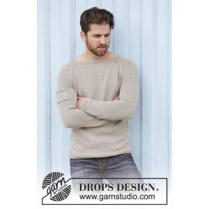 Carter by DROPS Design - Knitted Jumper with Pocket on the Arm Pattern size S - XXXL