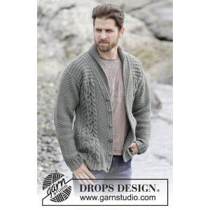 Finnley by DROPS Design - Knitted Jacket with Cables Pattern size S - XXXL