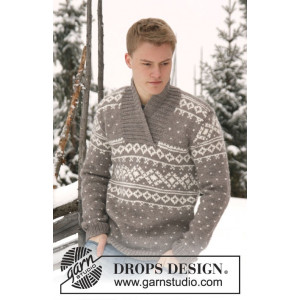 Simon by DROPS Design - Knitted Jumper Pattern size XS - XXXL