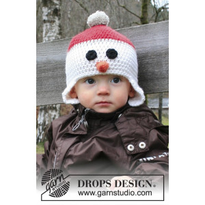 Carrot Nose by DROPS Design - Crochet Hat Pattern size 6 months - 10 years