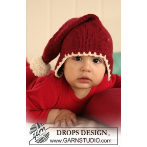 Santa Baby by DROPS Design - Knitted Baby Christmas Hat Pattern size 1/3 months - 3/4 years