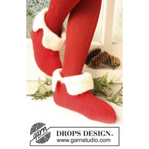 Santa Toe by DROPS Design - Felted Slippers Pattern size 21 - 48