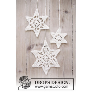 Wishing Stars by DROPS Design - Crochet Christmas Star Pattern 3 sizes