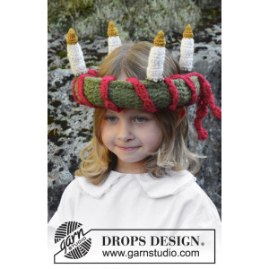 Little Lucia by DROPS Design - Crochet Lucia Crown Pattern 63 cm