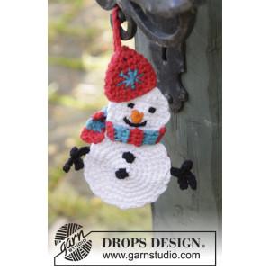 Olaf by DROPS Design - Crocheted Drops Snowman Pattern 16 cm - 2 pcs