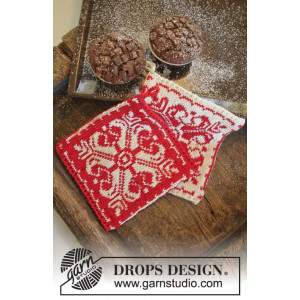 Baking Christmas by DROPS Design - Knitted Pot Holders with Nordic Pattern 20x19 cm - 2 pcs