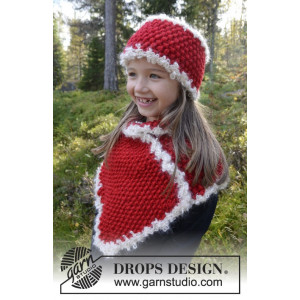 Santa's Little Helper by DROPS Design - Knitted Headband and Cowl Pattern 3-12 years