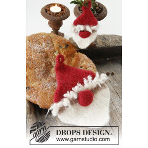 Ho Ho Ho! by DROPS Design - Felted Christmas Pot Holders Pattern 13x7 - 23x17 cm