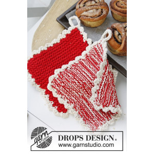 Hotspot by DROPS Design - Knitted Pot Holders Pattern 21x21 cm