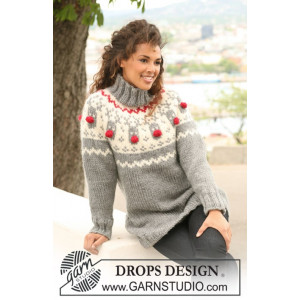 Rudolph by DROPS Design - Knitted Jumper with Rudolph Pattern size XS/S - XXXL