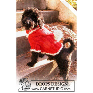 Santa Dog by DROPS Design - Knitted Dog Jumper for Christmas Pattern size XS - M